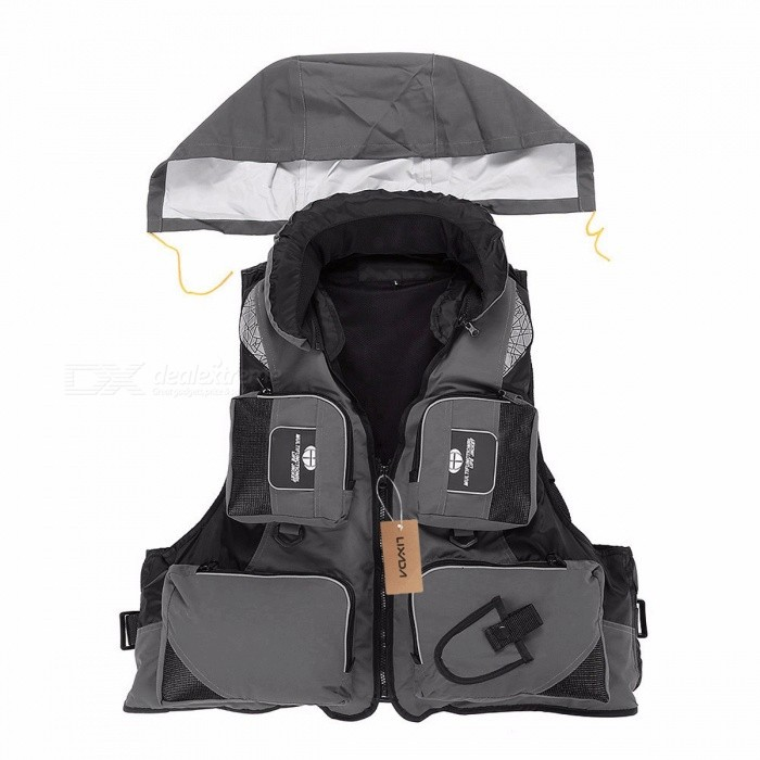 Lixada Professional Fly Fishing Vest Polyester Jacket Outdoor Sports Fishing Vest Backpack for carp Pesca Fish Accessory 5 Color XXL/BlueDescription <br><br><br><br><br>Brand Name: LIXADA <br><br><br>Feature: Waterproof <br><br><br><br><br>Material: Polyester <br><br><br><br><br><br><br><br><br><br><br><br>Very useful for outdoor activities, especially fishing.<br><br>Features:<br> Lightweight and great buoyancy.<br> With multiple pouches, practical for fishing lovers.<br> With convenient detachable collar design.<br> Reflective patches and stripes for security concerns.<br><br>Specifications:<br> Material: Polyester + EPE<br> Buoyancy: 9.5kg<br> Max Bearing: 110kg<br> Color: Green / Blue / Orange / Red / Grey (optional)<br> Size: L / XL / 2XL (optional)<br> Dimension (Length * Width):<br> L: 55 * 62cm / 21.7 * 24.4in (suit for people of 170-175cm and 60-70kg)<br> XL: 57 * 64cm / 22.4 * 25.2in (suit for people of 175-180cm and 70-80kg)<br> 2XL: 60 * 66cm / 23.6 * 26.0in (suit for people of 180-185cm and 80-90kg)<br> Weight: 720 - 800g / 21.31oz<br><br>Package List:<br> 1 * Fishing Life Jacket<br>