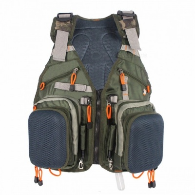 Universal Adjustable Fly Fishing Vest Pack, Multifunction Outdoor Sports Fishing Jacket Backpack with Multi-Pocket Design One Size/Olny Vest