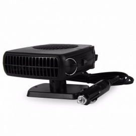 Portable 12V 150W Auto Car Heater Heating Fan with Swing-out Handle Driving Enthusiasts Car-Styling Defroster Demisterr Black