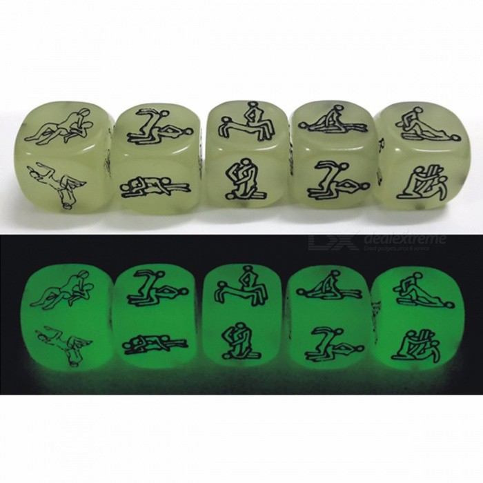 Lowest Price 1PC Sex Funny Noctilucent Adult Glow Dice Game Love Humour Gambling Romance Erotic Crap Toy (1 PCS)