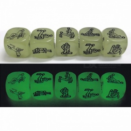 Lowest Price 1PC Sex Funny Noctilucent Adult Glow Dice Game Love Humour Gambling Romance Erotic Crap Toy (1 PCS) 1pc