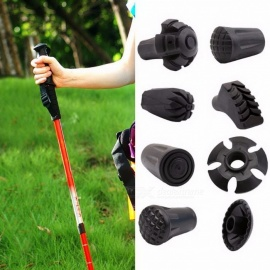 Trekking Pole Adjustable Walking Stick Hiking Accessory Hike Telescope Stick Nordic Walk Camp Ski Foot Carbon Fiber Crutch Bar  Round Feet L3