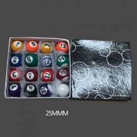 High Quality Children's Billiards Table Balls Full sets 25mm/32mm/38mm Resin Small Billiard Pool Balls 25mm