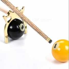 Messing beschichtetes Metall Messing Brückenkopf Pool Queue Snooker Zubehör Rahmen Pole Snooker Billard 9 Ball - 2PCS Gold