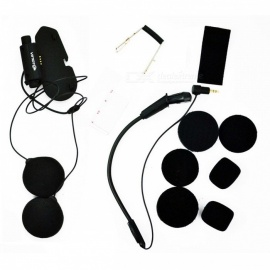 Vimoto Brand Original Earpiece Base Microphone Kit Accessories for Vimoto V3/V6 Helmets Bluetooth Headset Black