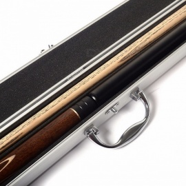 CUESOUL 57 Inches Snooker Cue Handcraft 3/4 Jointed with Mini Butt End Extension Packed in Aluminium Cue Case D303