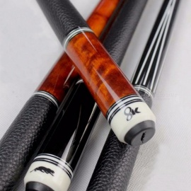 High Quality China Billiard Pool Cues 11.5mm/12.75mm Tip Black/Orange Colors 8 Pieces Wood Laminated Technology Shaft 2016 New 11.5mm/8K1