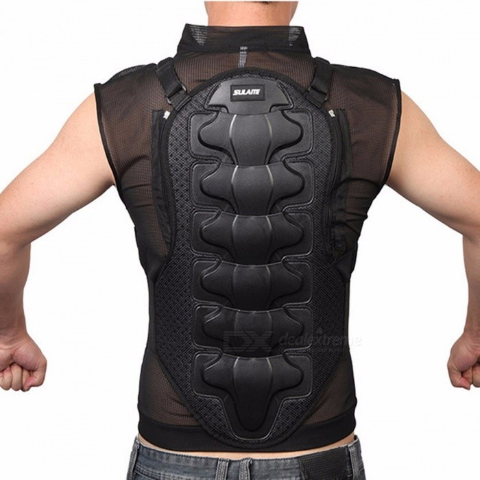 Sulaite Moto Armor Motorcycle Jacket Body Protection Skiing Body Armor Spine Chest Back Protector Protective Gear XXXLDescription<br><br><br><br><br>Item Type: Jackets<br><br><br>Brand Name: SULAITE<br><br><br><br><br>Material: Polyester &amp;amp; Nylon<br><br><br>Gender: Unisex<br><br><br><br><br><br><br><br><br><br><br><br>Brand: SULAITE<br><br><br>Color: Black<br><br><br>Fit: Men/Women<br><br><br>Seasons: Four seasons<br><br><br>Feature: Breathable/Protector<br><br><br>Size:M/L/XL/XXL/XXXL<br><br><br>&amp;nbsp;<br><br><br><br><br><br><br><br>Item Include<br><br><br>1* Motorcycle armor<br><br><br>&amp;nbsp;<br>