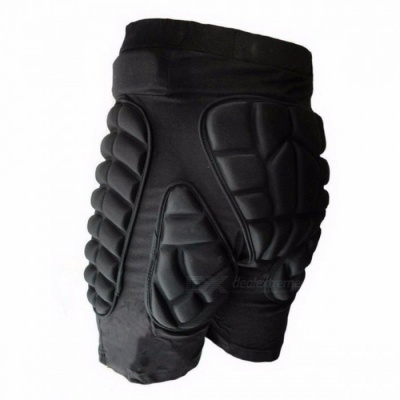 Sports Snowboarding Shorts Hip Protective Bottom Padded For Ski & Roller Skate & Snowboard Hip Protection Pad Sports Gears XXXL/Black