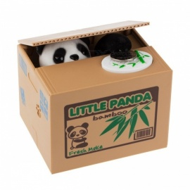 Ola Panda Thief Money Boxes Toy Piggy Banks Gift Kids Money Boxes Automatic Stole Coin Piggy Bank Money Saving Box Money Box As show