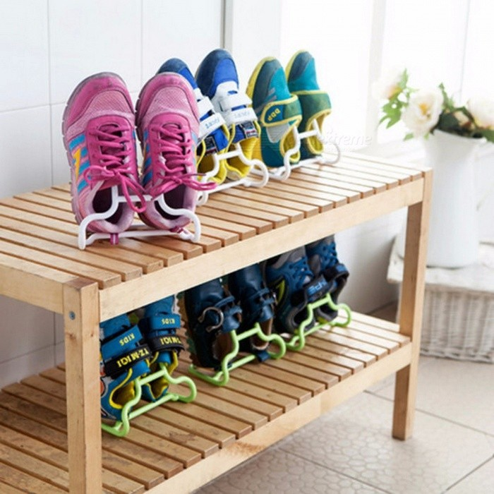 2017 Hot Sale Mueble Zapatero 4 Candy Colored Multifunction Children Can Stand Hanging Shoe Rack Hanger Child Balcony Two Loaded Random Color