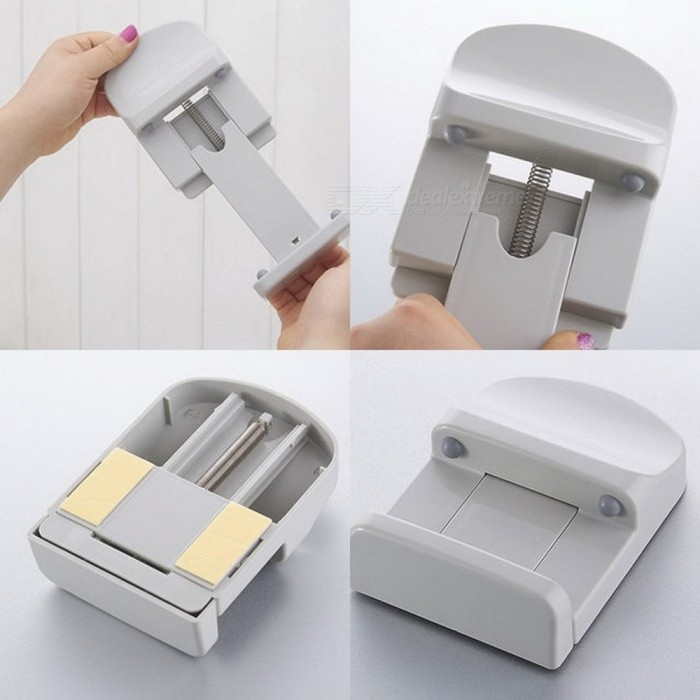 Butihome Cell Phone Holder Paste Vertical Tissue Box Rack Wall Shelf Universal Car Supply Creative Clip Bathroom Accessories