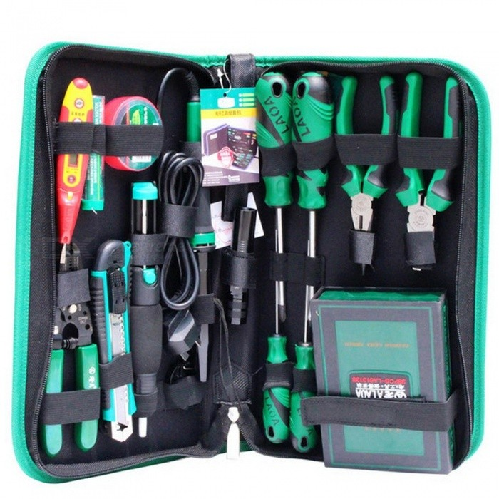 LAOA 53PCS Electric Soldering Iron  Repair Tool Set Screwdriver Utility Knife Pliers Handle Tools For Repairing IPHONE Samsung CN plugScrewdriver, Screwdriver Set<br>Description<br><br><br><br><br>Package: Bag<br><br><br>Type: Knives,Wrenches,Pliers,Combination,Screwdrivers<br><br><br><br><br>DIY Supplies: Electrical<br><br><br>Application: Household Tool Set<br><br><br><br><br>Brand Name: LAOA<br><br><br><br><br><br><br><br><br><br><br><br>&amp;nbsp; 1.&amp;nbsp;&amp;nbsp;&amp;nbsp;&amp;nbsp; 38 in 1 precise screwdriver &amp;nbsp; &amp;nbsp; &amp;nbsp;&amp;nbsp;&amp;nbsp; &amp;nbsp; &amp;nbsp; &amp;nbsp; &amp;nbsp;&amp;nbsp; &amp;nbsp; 9.&amp;nbsp;Voltage probe <br><br><br>&amp;nbsp; &amp;nbsp;&amp;nbsp; 2.&amp;nbsp;&amp;nbsp;&amp;nbsp;Screwdriver 3*100MM &amp;nbsp; &amp;nbsp; &amp;nbsp; &amp;nbsp; &amp;nbsp; &amp;nbsp; &amp;nbsp; &amp;nbsp; &amp;nbsp; &amp;nbsp; &amp;nbsp; &amp;nbsp; &amp;nbsp; &amp;nbsp; 10.&amp;nbsp;Tin wire&amp;nbsp; <br><br><br>&amp;nbsp; &amp;nbsp;&amp;nbsp; 3.Screwdriver 3*100MM &amp;nbsp; &amp;nbsp; &amp;nbsp; &amp;nbsp; &amp;nbsp; &amp;nbsp; &amp;nbsp; &amp;nbsp; &amp;nbsp; &amp;nbsp; &amp;nbsp; &amp;nbsp; &amp;nbsp; &amp;nbsp; &amp;nbsp;&amp;nbsp; 11.&amp;nbsp;Insulate tape <br><br><br>&amp;nbsp; &amp;nbsp;&amp;nbsp; 4.Iron stand &amp;nbsp; &amp;nbsp; &amp;nbsp; &amp;nbsp; &amp;nbsp; &amp;nbsp; &amp;nbsp; &amp;nbsp; &amp;nbsp; &amp;nbsp; &amp;nbsp; &amp;nbsp; &amp;nbsp; &amp;nbsp; &amp;nbsp; &amp;nbsp; &amp;nbsp; &amp;nbsp; &amp;nbsp; &amp;nbsp; &amp;nbsp; &amp;nbsp; &amp;nbsp; &amp;nbsp; &amp;nbsp; &amp;nbsp; 12.&amp;nbsp;3W flashlight <br><br><br>&amp;nbsp; &amp;nbsp;&amp;nbsp; 5.Soldering sucker &amp;nbsp; &amp;nbsp; &amp;nbsp; &amp;nbsp; &amp;nbsp; &amp;nbsp; &amp;nbsp; &amp;nbsp; &amp;nbsp; &amp;nbsp; &amp;nbsp; &amp;nbsp; &amp;nbsp; &amp;nbsp; &amp;nbsp; &amp;nbsp; &amp;nbsp; &amp;nbsp; &amp;nbsp; &amp;nbsp; 13.&amp;nbsp;Combination pliers <br><br><br>&amp;nbsp; &amp;nbsp;&amp;nbsp; 6.Three bursts utility knife &amp;nbsp; &amp;nbsp; &amp;nbsp; &amp;nbsp; &amp;nbsp; &amp;nbsp; &amp;nbsp; &amp;nbsp; &amp;nbsp; &amp;nbsp; &amp;nbsp; &amp;nbsp; &amp;nbsp; 14.&amp;nbsp;Long nose pliers <br><br><br>&amp;nbsp; &amp;nbsp; &amp;nbsp; 7.&amp;nbsp;Wire stripper &amp;nbsp; &amp;nbsp; &amp;nbsp; &amp;nbsp; &amp;nbsp; &amp;nbsp; &amp;nbsp; &amp;nbsp; &amp;nbsp; &amp;nbsp; &amp;nbsp; &amp;nbsp; &amp;nbsp; &amp;nbsp; &amp;nbsp; &amp;nbsp; &amp;nbsp; &amp;nbsp; &amp;nbsp; &amp;nbsp; &amp;nbsp; &amp;nbsp;&amp;nbsp; &amp;nbsp;15.&amp;nbsp;Screwdriver 6*100MM <br><br><br>&amp;nbsp; &amp;nbsp;&amp;nbsp; 8.&amp;nbsp;30W electric soldering iron &amp;nbsp; &amp;nbsp; &amp;nbsp; &amp;nbsp; &amp;nbsp; &amp;nbsp; &amp;nbsp; &amp;nbsp; &amp;nbsp;&amp;nbsp;&amp;nbsp; 16.&amp;nbsp;&amp;nbsp;Screwdriver 6*100MM<br>
