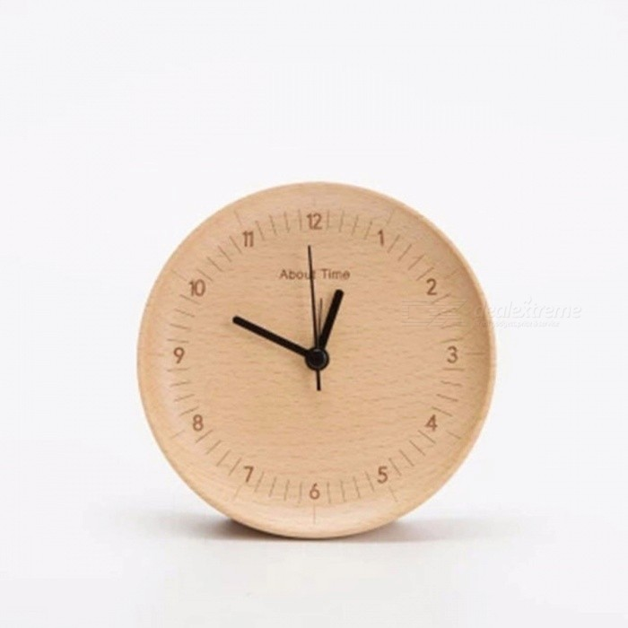 Original Xiaomi Mijia Mute Movement Wooden Alarm Clock Wood Desktop Table Clocks Watch Xmas Gift For Office Xiaomi Smart  Home
