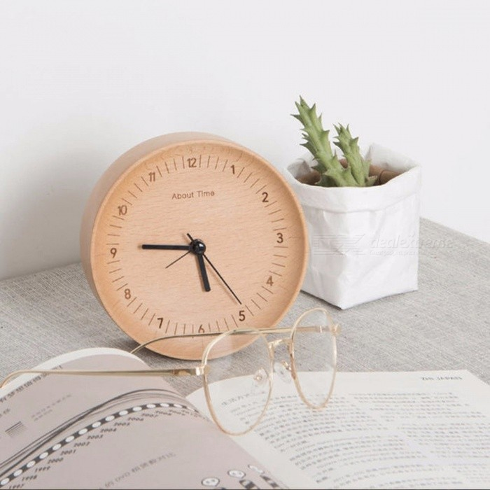 masa watch saati clock from relogio clocks mesa table reloj reveil sided digital item desk de saat despertador in double wood