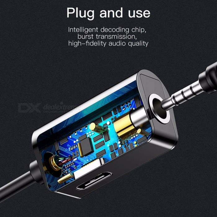 Baseus Type-C Audio Cable Adapter Type C to 3.5mm Jack Earphone Fast Charger USB C Splitter For Xiaomi Mi 6 Huawei Mate 10 Pro