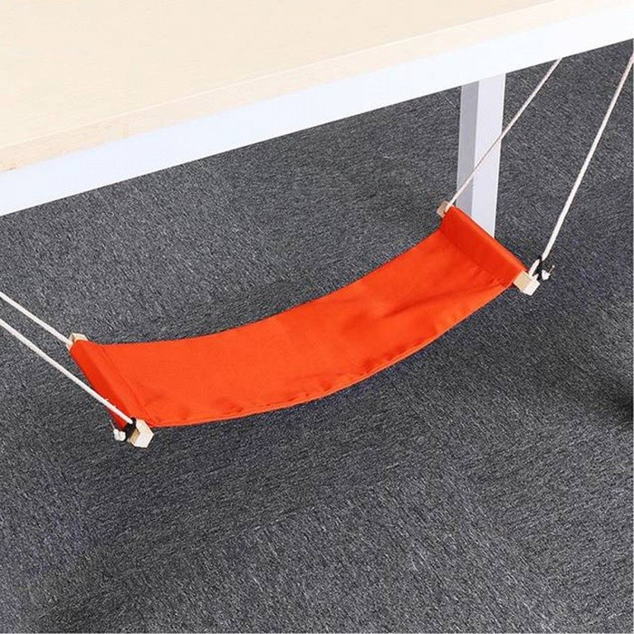 SGODDE The Welfare Of Office Leisure Home Office Foot Rest Desk Feet Hammock Surfing The Internet Hobbies Outdoor Rest