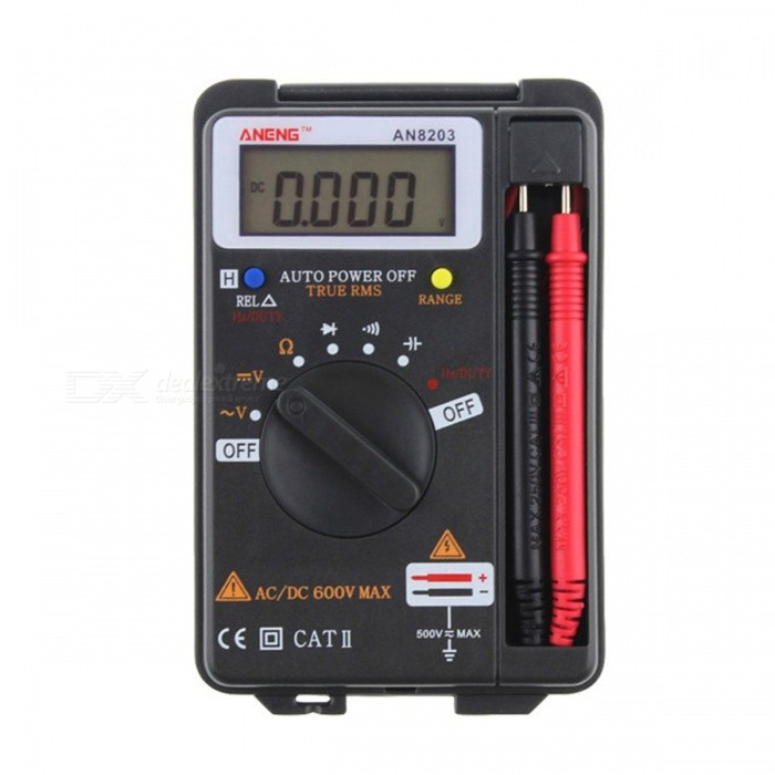 ANENG AN8203 High Quality 4000 Counts Mini Digital Multimeter AC Voltage Current Tester Multimeter Ammeter blackMultimeters<br>Description<br><br><br><br><br>DIY Supplies: Electrical <br><br><br>Display Type: Digital Display <br><br><br><br><br>Brand Name: ANENG<br>