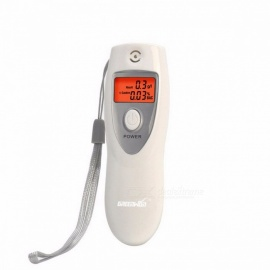 Portable Mini LCD Digital Breath Alcohol Analyser Breathalyzer Tester Inhaler Alcohol Meters Keychain - White white