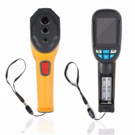 HT-02D Handheld IR Thermal Imaging Camera Digital Display Infrared Image Resolution Thermal Imager Termometro Infravermelho yellow