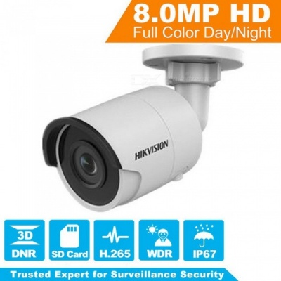 HIKVISION 8MP H.265 Network Bullet IP Camera DS-2CD2085FWD-I 3D DNR Security Camera with High Resolution 3840x2160