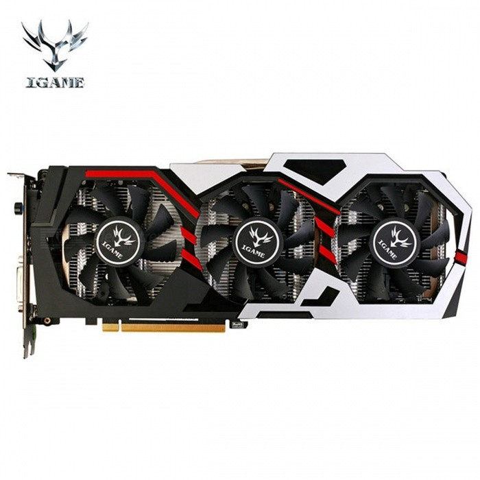 Colorful NVIDIA GeForce iGame GTX1060 GPU 6GB GDDR5 192bit PCI-EX16 3.0 VR Ready Gaming Video Graphics Card DVI+HDMI+3xDP 3 Fans blackGraphic &amp; Video Cards<br>Description<br><br><br><br><br>Memory Interface: 192 Bit<br><br><br>Chip Process: 16 nanometers<br><br><br><br><br>Output  Interface Type: DVI,HDMI<br><br><br>Memory Clock(Mhz): 8008MHz<br><br><br><br><br>Item Condition: New<br><br><br>DirectX: DirectX 12<br><br><br><br><br>Chipset Manufacturer: NVIDIA<br><br><br>Interface Type: PCI Express 3.0 X16<br><br><br><br><br>Application: Desktop<br><br><br>Core Clock(Mhz): 1506MHz<br><br><br><br><br>Brand Name: Colorful<br><br><br>Video Memory Capacity: 6 GB<br><br><br><br><br>Cooler Type: Fan<br><br><br>Products Status: Stock<br><br><br><br><br>Video Memory Type: GDDR5<br><br><br>GPU Model: GeForce GTX 1060<br><br><br><br><br><br><br><br><br><br><br><br>Speed<br> up your PC experience when you upgrade from integrated graphics to the <br>new GeForce GTX 1060 dedicated card. Enjoy all your videos and pictures <br>at HD resolutions. Discover 2.9X VR performance improvement and 1.8X <br>faster gaming performance than GTX 960 GPU graphics, making all your <br>gameplay richer and smoother. The GeForce GT 1060 is everything you need<br> for a better, faster PC experience. <br><br><br><br>Combined 16nm GP106 architecture with 1280 CUDA cores. 6GB GDDR5 memory clocked to 8008MHz. <br><br><br>Equipped with Turbo Key for one-key overclocking from 1708MHz up to 1809MHz performance in a flash. <br><br><br>3 * 8cm large fans with 1*8mm + 1*6mm pure copper plating nickle heat pipe for optimize cooling effiency. <br><br><br>6+2 I.P.P power supply ensure strong power supply for higher frequency. <br><br><br>Reinforced metal backplate to prevent PCB warpage, making the cards extra stable and durable. <br><br><br>Next-gen APIs (DirectX 12.1, OpenGL 4.5), to achieve extreme gaming performance. <br><br><br><br>Technology Support: Multi-projection, VR Ready, NVIDIA GPU boost 3.0, DirectX 12 with feature level 12_1, OpenGL4.5<br>Note: DVI-D can NOT convert to HDMI interface.<br><br>Package List:<br>1 * Graphics card<br>1 * CD driver<br>2 * 6pin auxiliary power cable<br>1 * User manual (English, Chinese, Korean)<br>