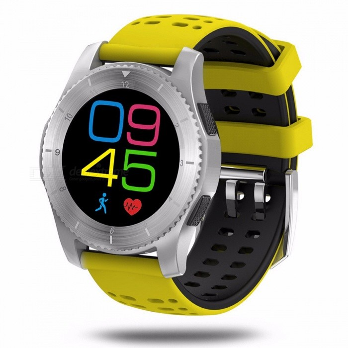 SENBONO G8 Smartwatchs Bluetooth 4.0 Fitness Tracker SIM Card Heart Rate Blood Pressure Smart Watch For Android IOS yellowSmart Watches<br>Description<br><br><br><br><br>Language: Polish,Italian,Russian,Turkish,English,French,Portuguese,Spanish<br><br><br>Function: Passometer,Heart Rate Tracker,24 hour instruction,Remote Control,Call Reminder,Message Reminder,Sleep Tracker,Fitness Tracker,Calendar,Alarm Clock,Dial Call<br><br><br><br><br>ROM: 128mb<br><br><br>Band Detachable: Yes<br><br><br><br><br>Battery Capacity: 300-450mAh<br><br><br>APP Download Available: Yes<br><br><br><br><br>System: Android OS<br><br><br>SIM Card Available: Yes<br><br><br><br><br>GPS: No<br><br><br>Battery Detachable: No<br><br><br><br><br>CPU Manufacturer: Mediatek<br><br><br>Brand Name: SENBONO<br><br><br><br><br>Camera: None<br><br><br>Application Age Group: Adult<br><br><br><br><br>Network Mode: 2G<br><br><br>Screen Shape: Round<br><br><br><br><br>Style: Fashion<br><br><br>Case Material: Alloy<br><br><br><br><br>Compatibility: All Compatible<br><br><br>Movement Type: Electronic<br><br><br><br><br>Waterproof Grade: Life Waterproof<br><br><br>Type: On Wrist<br><br><br><br><br>RAM: &amp;lt;128MB<br><br><br>Multiple Dials: No<br><br><br><br><br>Mechanism: Yes<br><br><br>Band Material: Silica Gel<br><br><br><br><br><br><br><br><br><br><br><br><br><br><br><br>Features:<br>SIM card / Bluetooth phone call (Bluetooth V4.0) / answer<br>• You can dial or answer a phone call from your wrist watch<br>Messaging<br>• Effortlessly send/receive messages to have a good interaction with your friends<br>Phone book / call log / message sync<br>• Easily realize information synchronization with your universal smart phone, which is more convenient for users<br>Music playing<br>• Enjoy splendid music anywhere and anytime<br>1.3 inch capacitive touch screen, 240 x 240 pixels<br>• Best suitable screen size with high-definition picture, giving you a great experience<br>Pedometer<br>• Record the steps you take and count your distance to fully control your sports data<br>Sedentary reminder<br>• Develop scientific habits and effectively resist unhealthy activities.<br>Anti-lost<br>• When the Bluetooth is disconnected or the phone is out of the Bluetooth range, the watch will send you an alert<br>Remote control phone camera<br>• Effortlessly utilize the remote control and record every wonderful moment from any angle<br>2G network: GSM 850/900/1800/1900MHz<br>Other functions: Calendar, stopwatch, alarm clock, calculator, sleep monitor, etc.<br><br><br><br><br><br><br><br><br><br><br><br><br><br>Note:<br> The SENBONO G8 can control the camera (from your cell phone); it also <br>can control music (from your cell phone), but doesnt support TG memory <br>card<br>