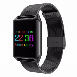 SENBONO M7 Colorful OLED Screen Sports Smart Band IP67 Waterproof  Support Heart Rate Blood Pressure Predometer Black steel