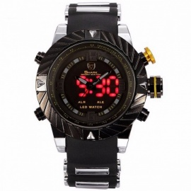 Luxury Goblin Shark Sports Watch Mens Outdoor Fashion Digital LED Multifunction Waterproof Wristwatches Relogio Masculino SH168 Black