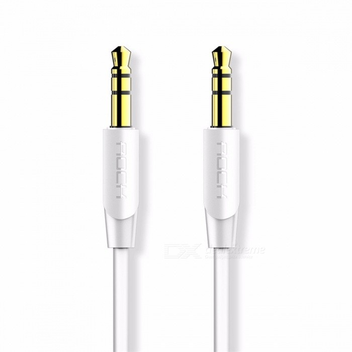 ROCK 3.5mm Jack Gold Plated Audio Cable 3.5mm Male to Male Auxiliary Cable for iPhone Headphone Speaker Car Aux Cable 0.5M 1M 2M
