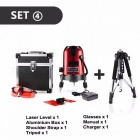 DEKOPRO 5 Lines 6 Points Laser Level Automatic Self Leveling 360 Vertical & Horizontal With Tilt&Outdoor Mode Can Use Receiver SET2