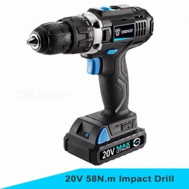DEKO GCD20DU2 20V DC Household DIY Woodworking Lithium-Ion Battery Cordless Drill Driver Power Tools Electric Drill Power Drill GCD20DU2