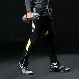 Men's Sports Running Pants with Pockets Athletic Football Soccer Pants Training Pants Elasticity Legging Jogging Gym Trousers XL/green pant