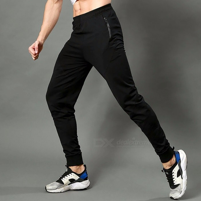 fine quality hot new products coupon code Winter Men's Running Pants Sportswear Fitness Legging Sports Football  Sweatpants Gym Trousers Solid Polyester Training Long XXXL/black