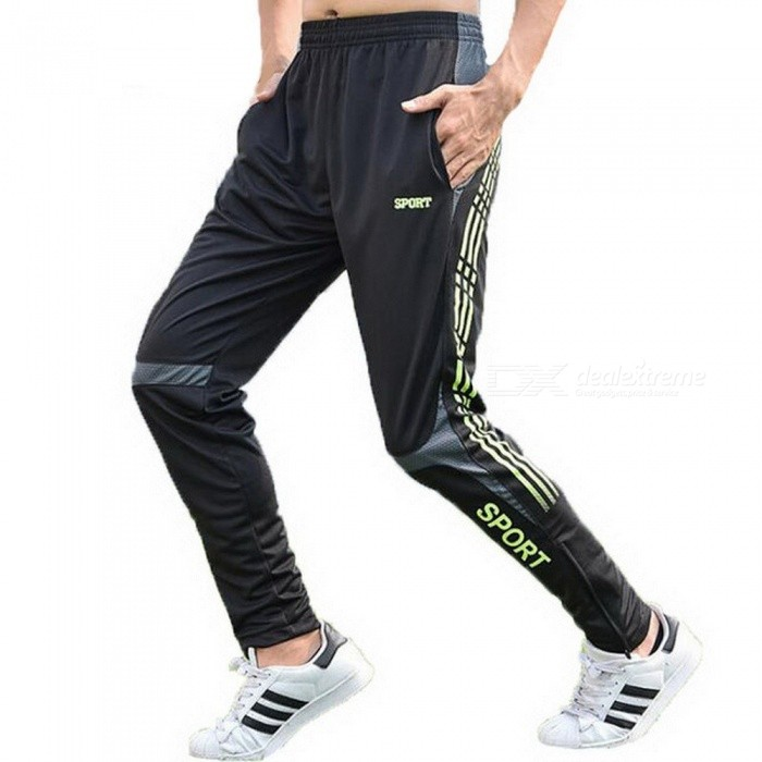 Mens Football Training Fitness Running Pants, Quick Dry Breathable Outdoor Leisure Sports Straight Trousers XL/Lake BlueDescription<br><br><br><br><br>Item Type: Full Length<br><br><br>Sport Type: Running<br><br><br><br><br>Gender: Men<br><br><br>Brand Name: ZMHTDREAMHUNTER<br><br><br><br><br>Fit: Fits true to size, take your normal size<br><br><br>Closure Type: Elastic Waist<br><br><br><br><br>Material: Polyester<br><br><br><br><br><br><br><br><br><br>Model number: YD263 running pants <br><br><br>COLOR: Red LakeBlue Green leggings <br><br><br>size: M L XL XXL 3XL PLUS SIZE compression pants <br><br><br>ITEM: basketball tights <br><br><br>ITEM TYPE: fitness legging <br><br><br>style: compression pants <br><br><br>type: GYM Compression Pants <br><br><br>feature: pro sports leggings <br><br><br>desigh: Running Trainning Leggings <br><br><br>is_customized: yes Black Sports Pro Men Running Tights<br>