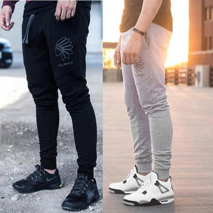 Mens Jogging Pants Mens Running Pants Men Fitness Gym Leggings Sports Trousers Mens Football Soccer Sport Training Pants XXL/39 GrayDescription<br><br><br><br><br>Item Type: Full Length<br><br><br>Sport Type: Running<br><br><br><br><br>Gender: Men<br><br><br>Brand Name: EU<br><br><br><br><br>Fit: Fits true to size, take your normal size<br><br><br>Material: Cotton<br><br><br><br><br>Closure Type: Elastic Waist<br>