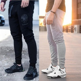 Men's Jogging Pants Mens Running Pants Men Fitness Gym Leggings Sports Trousers Mens Football Soccer Sport Training Pants M/39 Gray