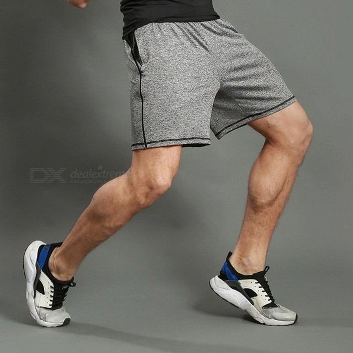 LANTECH Men's Running Jogging Training Sports Sportswear Shorts, Breathable Quick Dry Fitness Exercise Gym Pocket Pant