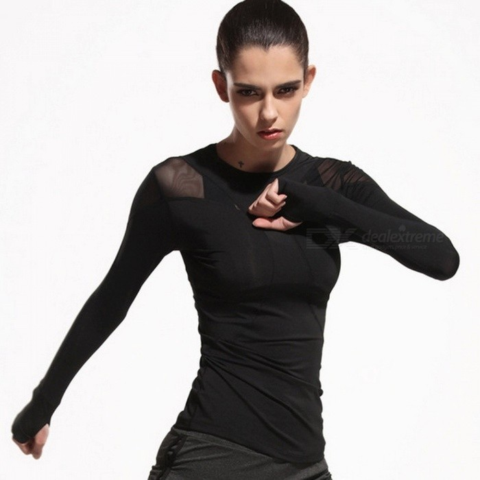 Patchwork Womens Fitness Running T-Shirts, Yoga Shirt Gym Tights Tops, Sports Long-Sleeve Running Tee Shirt L/BlackDescription<br><br><br><br><br>Gender: Women<br><br><br>Brand Name: WANAYOU<br><br><br><br><br>Fit: Fits true to size, take your normal size<br><br><br>Season: Spring,Autumn<br><br><br><br><br>Material: Polyester<br><br><br><br><br><br><br><br><br><br><br><br><br>100%brand new.<br><br><br>Item number:22000<br><br><br>Material:Polyester<br><br><br>Color:Black<br><br><br>Sleeve: Full Length<br><br><br>Season:Spring,Autumn,Summer,Winter<br><br><br>Feature:Quick Dry,Slim,High Elasticity,Breathable Grid<br><br><br>Occasion:Running,Yoga,Fitness,Outdoor Exercise<br><br><br>Size:S,M,L,XL<br><br><br>Packaging Content: 1 Sports Shirt<br><br><br>Size S:Length 59cm;Bust 76-98cm;Shoulder 34cm;<br><br><br>Size M:Length 60cm;Bust 80-102cm;Shoulder 35cm;<br><br><br>Size L:Length 61cm;Bust 84-106cm;Shoulder 36cm;<br><br><br>Size XL:Length 62cm;Bust 88-110cm;Shoulder 37cm;<br><br><br>Note:<br><br><br>1.Please compare the detail sizes with yours,please allow1-2cm differs due to manual measurement,thanks. <br><br><br>(All measurement in cm and please note 1cm=0.39inch,it is high elastic, can be stretch 4-8cm. ) <br><br><br>2.Use similar clothing to compare with the size;Choose larger size if your size are the same as the flat measurement size chart. <br><br><br>3.As different computers display colors differently,the color of the actual item may vary slightly from the above images.&amp;nbsp;<br>