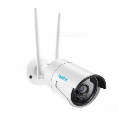 Reolink RLC-410WS Surveillance Outdoor Camera, Wi-Fi 4.0MP 2.4G/5G HD Wireless Weatherproof Security IP Cam with 16GB SD Card