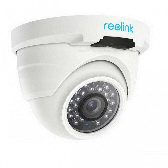 Reolink POE Super HD 4.0MP 2560*1440P IP66 Waterproof Indoor Outdoor Dome Security IP Camera with AudioIP Cameras<br>Form  ColorWhiteMaterial?Quantity1 setImage SensorCMOSFrame Rate:Audio Compression FormatNoNight VisionNoWireless / WiFiNoNetwork ProtocolIP,FTPSupported Systems7Supported BrowserFirefox,OperaSIM Card SlotNoOnline Visitor?Mobile Phone PlatformNo,Android,iOS,WindowsFree DDNSnoIR-CUTnoBuilt-in Memory / RAMNoMotorNoWater-proofNoIntercom FunctionNoImage SensorCMOSFocus4mmPacking ListProduct<br>