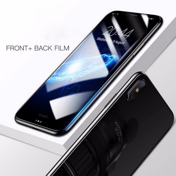 Baseus 3D Full Screen Protector for IPHONE X, Tempered Glass Front Film + Protective Glass Back Protector Cover