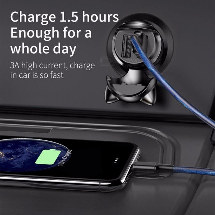 Baseus Dual USB Car Phone Charger for IPhone Samsung Xiaomi Mobile Phone, 5V 3A Fast Car Power Adapter / USB Car-Charger
