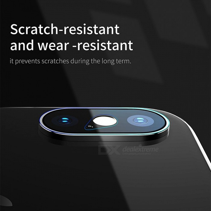 Baseus 0.15mm Tempered Glass Lens Protector For IPHONE X Camera Len Glass Film Back Lens Protection Film 9H Glass