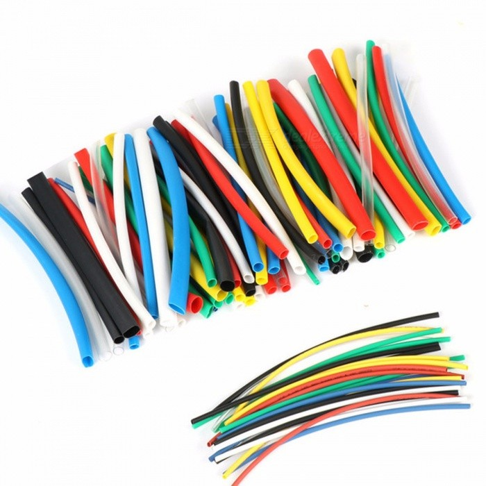High Quality 140Pcs 7-Color Assortment 2:1 Heat Shrink Tube Tubing Sleeving Wrap Wire Cable Kit Connectors