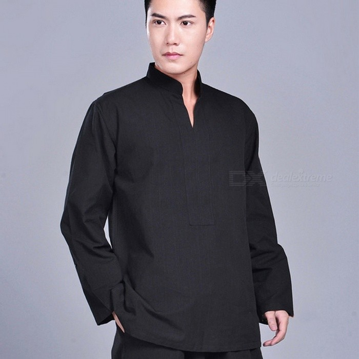 100% Cotton Wushu Kung Fu Jacket, Zen Buddhist Monk Meditation Suit Tai Chi Top, Martial Arts Uniform Shirt M/blackDescription<br><br><br><br><br>Item Type: Shirts<br><br><br>Sport Type: Martial Arts<br><br><br><br><br>Feature: Anti-Shrink,Breathable,Anti-Pilling<br><br><br>Sleeve Length(cm): Full<br><br><br><br><br>Brand Name: NoEnName_Null<br><br><br>Gender: Men<br><br><br><br><br>Fit: Fits true to size, take your normal size<br><br><br>Material: Cotton<br><br><br><br><br>Fabric Type: Woven<br><br><br><br><br><br><br><br><br><br><br><br><br>Product Introduction<br><br><br>&amp;nbsp;<br><br><br>Style: high quality cotton kung fu jacket from Dengfeng, Zhengzhou City of China, the location of Shaolin Temple.&amp;nbsp;<br><br><br>Item Includes: one jacket<br><br><br>Fabric:<br> 100% cotton. The cotton fabric is very good quality, the weight is <br>between medium and heavy, durable, comfortable and looks very beautiful.<br><br><br>Color: black, white,&amp;nbsp;dark blue, dark&amp;nbsp;gray,&amp;nbsp;red, dark red, dark green, brown, beige<br><br><br>Size: sizes for friends with height between 55--63, or 165--190cm. This jacket is smaller designed and we suggest you choose one or two size bigger.&amp;nbsp;<br><br><br>Size<br> &amp;nbsp; &amp;nbsp; &amp;nbsp; &amp;nbsp; &amp;nbsp; &amp;nbsp; &amp;nbsp; &amp;nbsp; &amp;nbsp; &amp;nbsp; &amp;nbsp; &amp;nbsp; &amp;nbsp; &amp;nbsp; &amp;nbsp; &amp;nbsp; Chest &amp;nbsp; &amp;nbsp; &amp;nbsp; &amp;nbsp; &amp;nbsp; &amp;nbsp; &amp;nbsp; &amp;nbsp; &amp;nbsp; &amp;nbsp; &amp;nbsp; &amp;nbsp; &amp;nbsp; &amp;nbsp; &amp;nbsp; <br>Jacket Length &amp;nbsp; &amp;nbsp; &amp;nbsp; &amp;nbsp; &amp;nbsp; &amp;nbsp; &amp;nbsp; &amp;nbsp; &amp;nbsp; &amp;nbsp; &amp;nbsp; &amp;nbsp;Sleeves Length&amp;nbsp; &amp;nbsp; &amp;nbsp;&amp;nbsp;<br><br><br>165/M &amp;nbsp; &amp;nbsp; &amp;nbsp; &amp;nbsp; &amp;nbsp; &amp;nbsp; &amp;nbsp; &amp;nbsp; &amp;nbsp; &amp;nbsp; &amp;nbsp; &amp;nbsp; &amp;nbsp; &amp;nbsp;108cm/42.5 &amp;nbsp; &amp;nbsp; &a