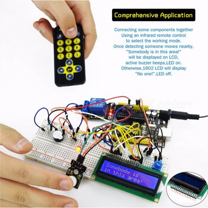 Keyestudio Super Starter kit / Learning Kit (UNO R3) for arduino Starter  Kit with 32 Projects + User Manual + RFID 1602 colorful