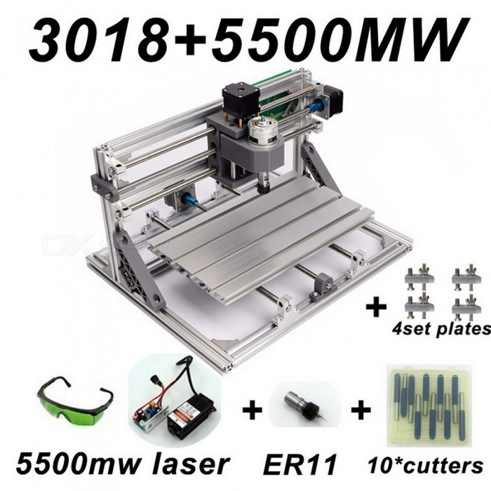 CNC3018 With ER11, Diy Mini Cnc Laser Engraving Machine, Pcb Milling Machine, Wood Router, Laser Engraving
