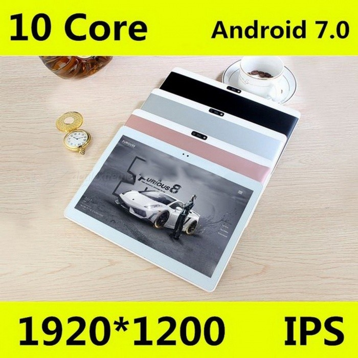 10.1 Inches Original 4G Tablet PC Phone Call Android 7.0 Dual SIM Card 1920x1200 Deca Core 128GB Tablets PC WiFi Bluetooth
