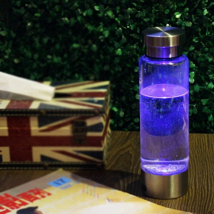 Portable USB 350ML Water Hydrogen Generator Ionizer, Pure H2 Electrolysis Rich Hydrogen Water Bottle Cup